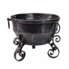 Wrought iron Kadai fire bowl