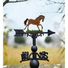 Hand Painted Stallion Weathervane in Cast Iron