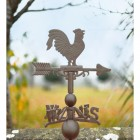 Standard Iron Rooster Weathervane In A Rustic Finish