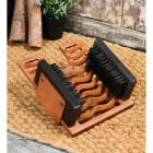 Rustic Three in one Boot Brush, Jack & Scraper on door matt