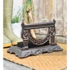 """Bishton Mallery"" Rustic Victorian Style Boot Brush & Scraper"