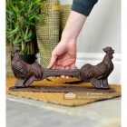 Cast Iron Rustic Rooster Boot Scraper to Scale