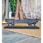 Cast Iron Cow Boot Scraper in Black