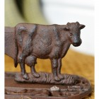 Close-up of the Cow on the boot Scraper
