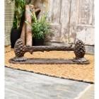 Pine Cone Boot Scraper Finished in a Rustic Finish