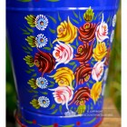 Hand Painted Rose Design on the Bucket