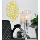Geometric Lion Steel Wall Art in the Home