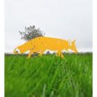Iron Silhouette Fox in Yellow