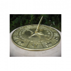 """""""Horoscope"""" Design Sundial finished in a Polished Brass"""