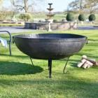 Traditional Iron Kadai Bowl in Garden Area