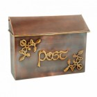 """Drustan"" Celtic Design Post Box in Antique Copper"