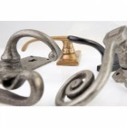 Euro Cylinder Lever Handle Set Solid Bronze Abstract