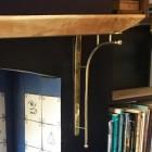 Kepler Brass Shelf Bracket