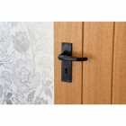 Deluxe Lever Lock Set Fitted to Wooden Door