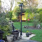 Victorian lamp post in Back garden