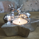 Christmas Star and Stag Tea Light Holder