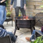 The Gothic Style Firepit in Use Outside