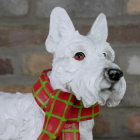 Close up of head and nose of Scottie Dog Sculpture