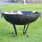 80cm Kadai Bowl with Stand in situ
