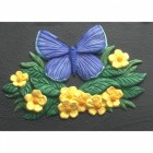 """""""Icarus Blue"""" English Butterfly House Name Sign"""