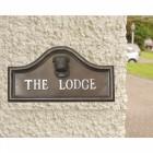 Bulldog house name plaque