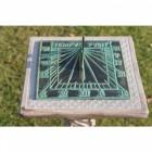 Verdigris 'Tempus Fugit' Square Sundial