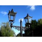 Dual Headed High Mast Column and Lantern Set