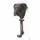 Great Dane Dog Door Knocker Finished in a Bronze Finish