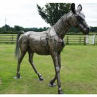"""Brigadier Gerard"" Horse sculpture hand made in fabricated steel"
