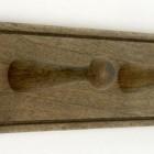 Hook Rack Natural Wood - 3 Hook