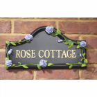 Hand Painted Violet Rose House Name Sign