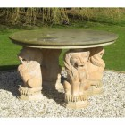Lion Stone Table