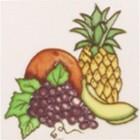 Square Trivet C/W Fruit