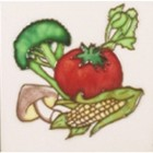 Square Trivet C/W Tomato / Brocolli