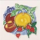 Sweet Harvest Square Trivet C/W Apricot / Plums