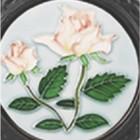 Round Trivet C/W Rose