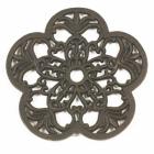Rustic Cast Iron Flower Trivet