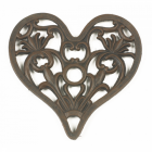 Trivet - Heavy Duty V3 Heart - Rust