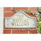 White Traditional House Name Signs