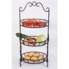 """Aunt Wilamina""  Wrought Iron vegetable or fruit stand"