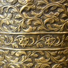 Close-up of the Ornate Pattern in Antique Brass
