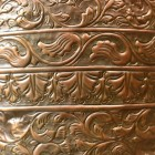 Close-up of the Antique Copper Ornate Design