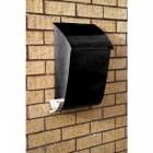 Evening Hush Berkley post box with newspaper holder finished in black
