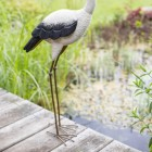 View of the Long Legs on the Heron Sculpture