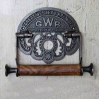 'GWR' Iron Toilet Roll Holder