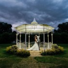 """""""Lady Leticia Dream Carousel"""" Bandstand Pavilion Being Used at Night Time - Leah Vanzyl  Photography"""