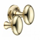 """Milan"" Polished Brass Oval Rim Knob Pair"