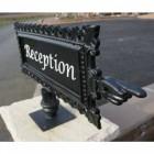 """Millington"" Directional Cast Aluminium Sign"