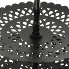 3 Tier Black Table Top Cake Display Stand