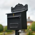 """Twilight Shadows"" Black Goldhay Post Box"